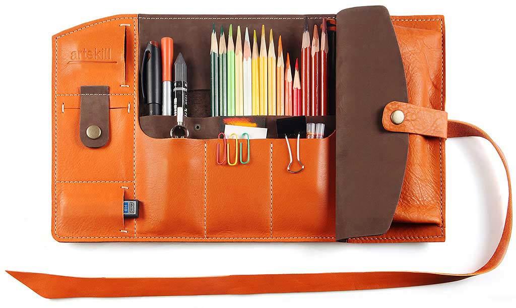 Пенал для карандашей для художников своими руками